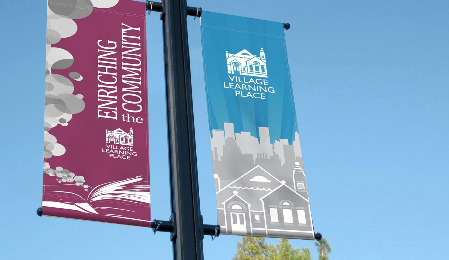 Printed Lamppost Banners - Street banners for lampposts