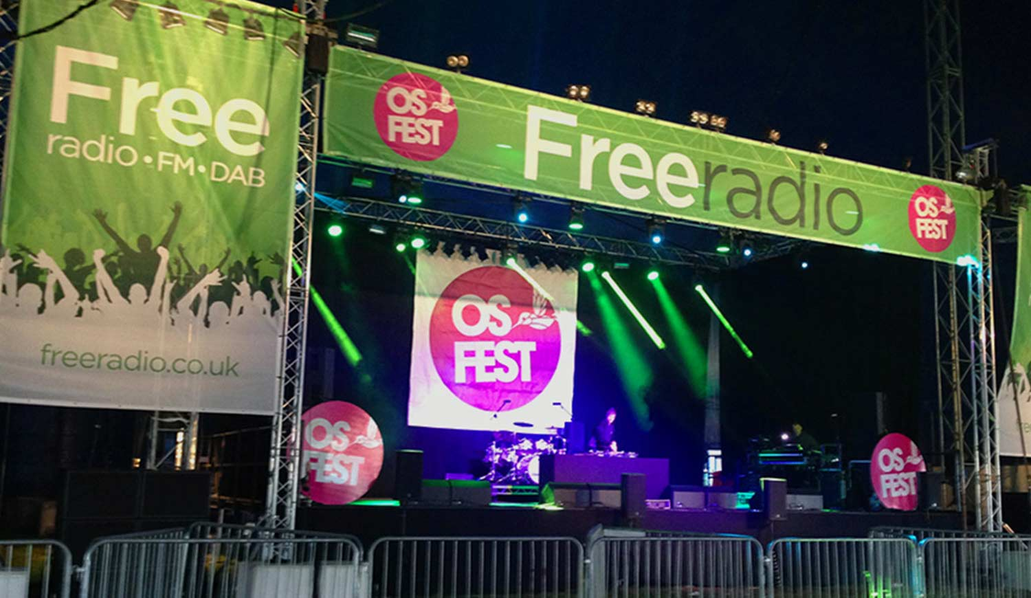 Printed Stage Banners - Music Festival Stage Surround Prints