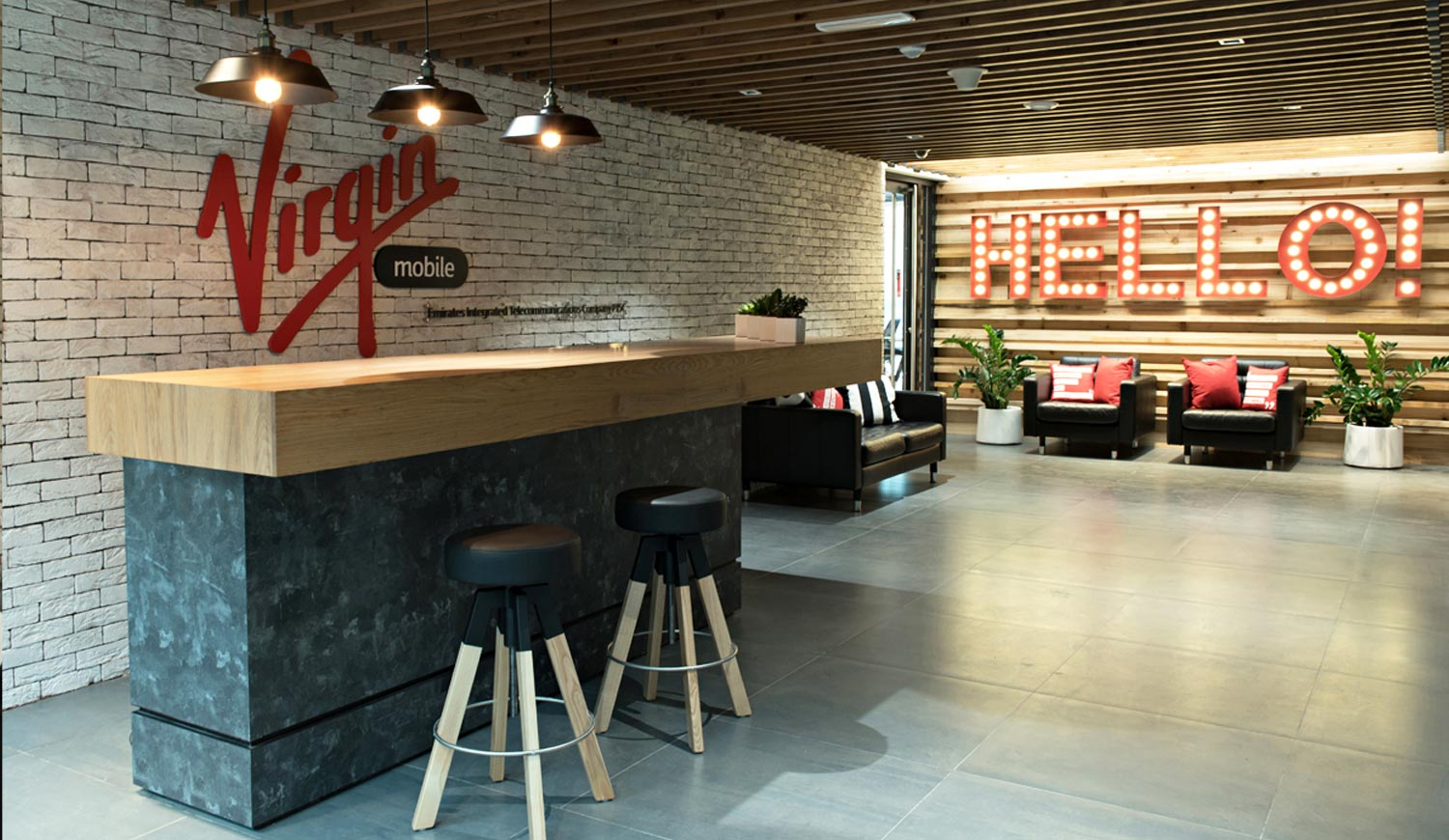 Branded Reception Area in Office Space - Reception Branding