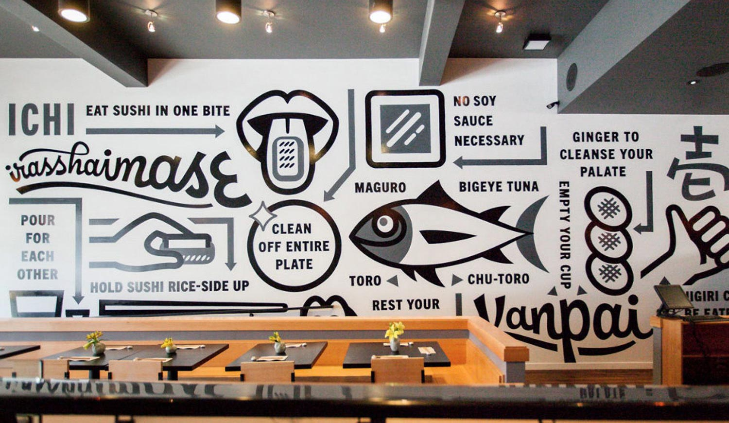 Modern Wall Print for Sushi Fish Restaurant