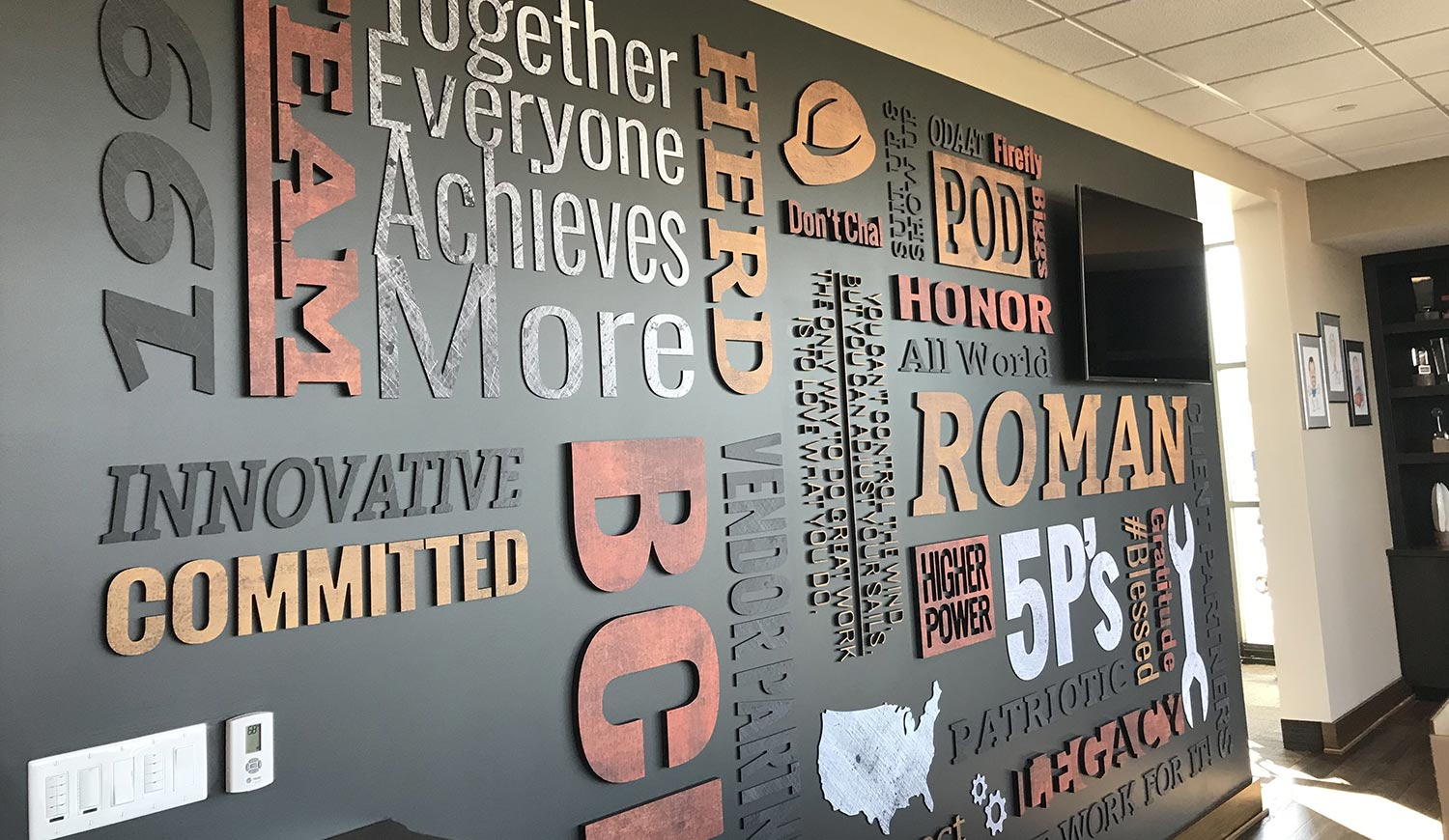 3D Wall Graphics - Cut Lettering Wall Design