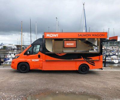 MOWI Hy van conversion with digital screen - side View