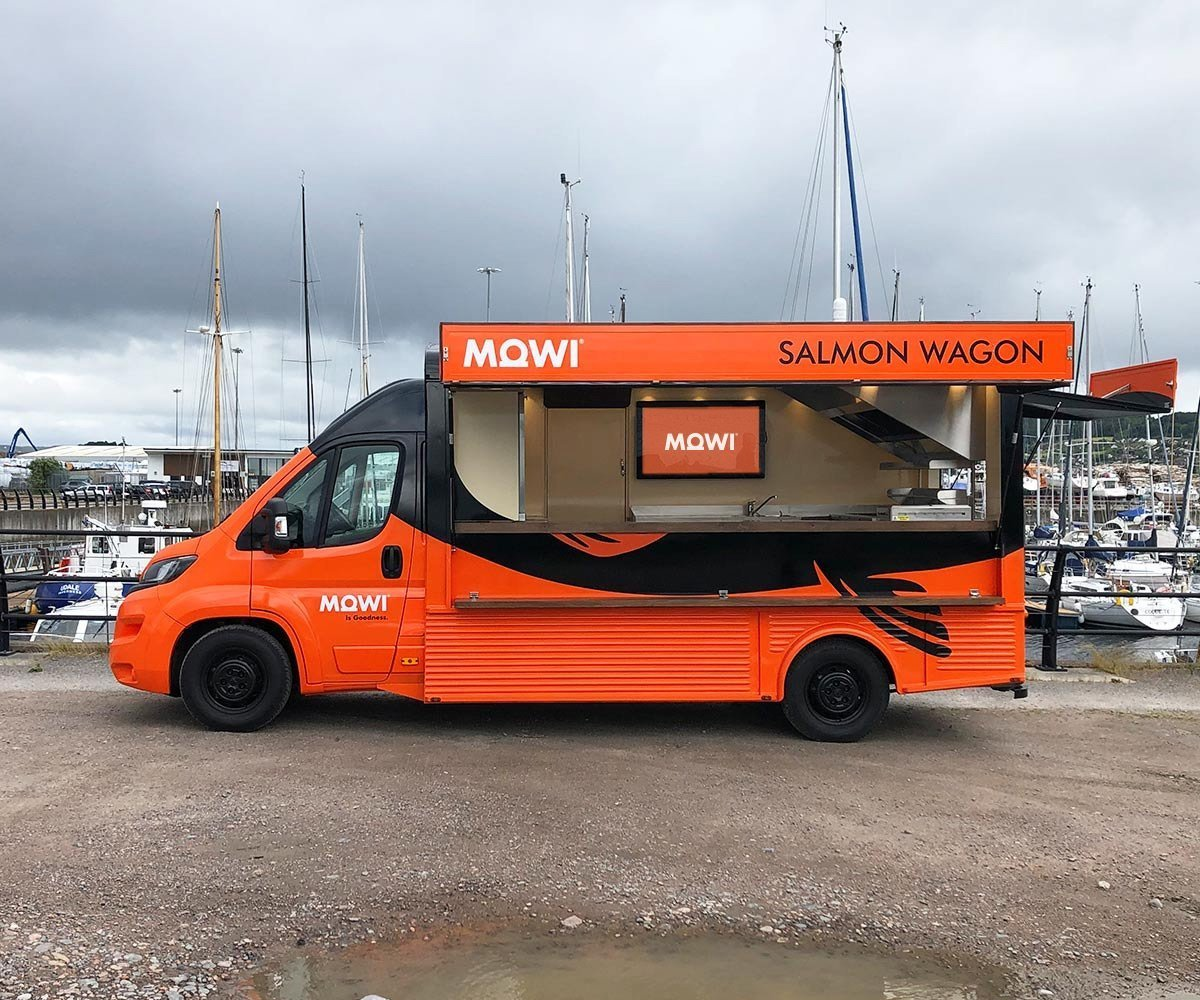 MOWI Hy van conversion with digital screen - side View