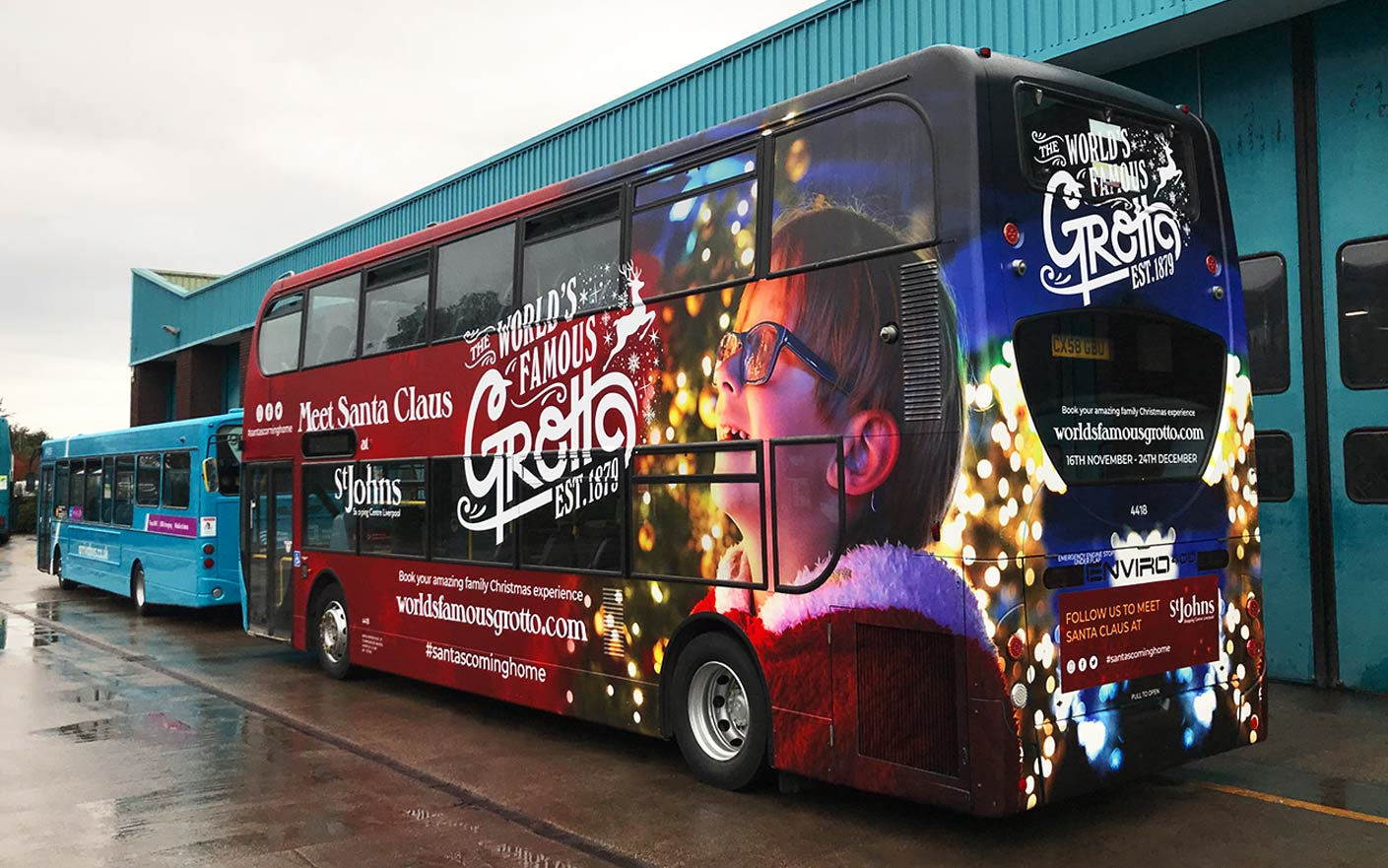Double decker bus wrap arriva Liverpool famous grotto