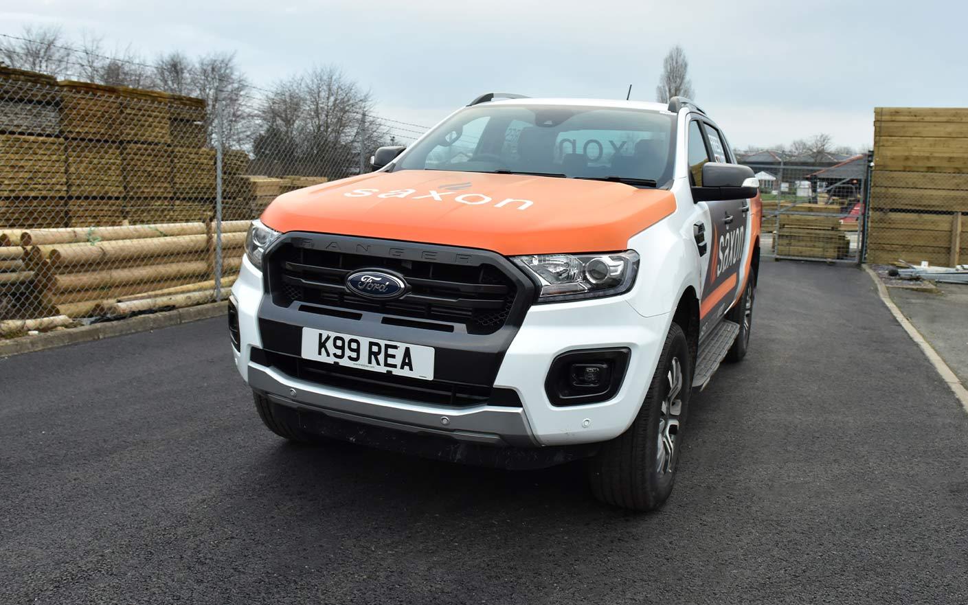 Shropshire Vehicle Livery Orange Wrap