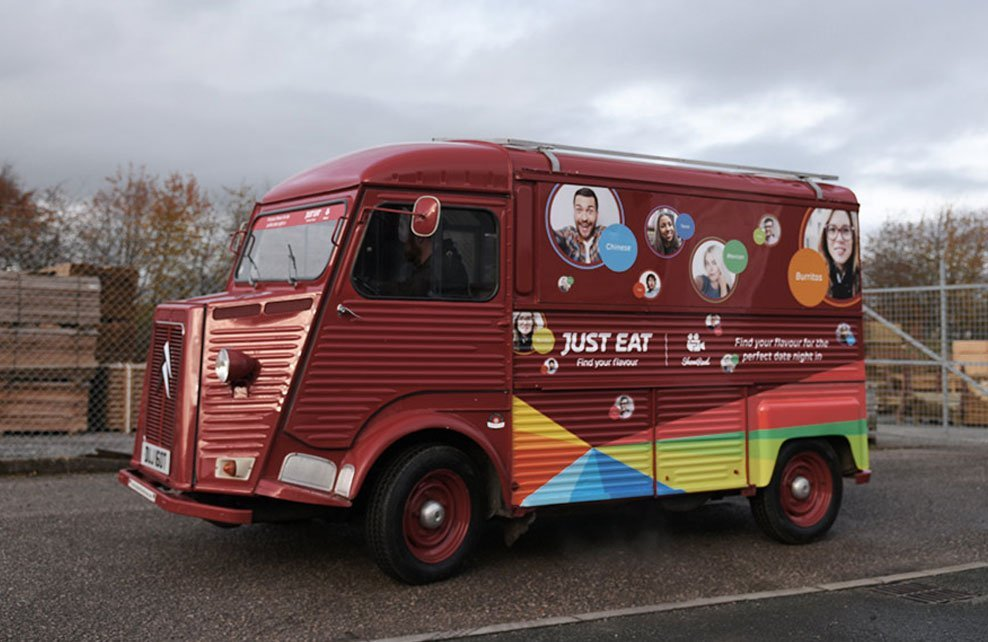 Just Eat Red HY Van Promotional Service