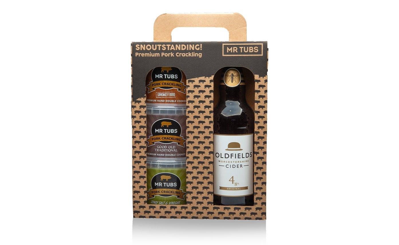 Cider Tubs Gift Set Packaging Design Set Up