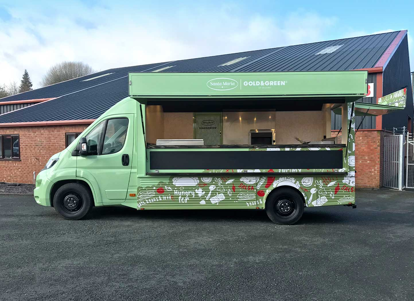 Branding Santa Maria Food Promo Vehicle