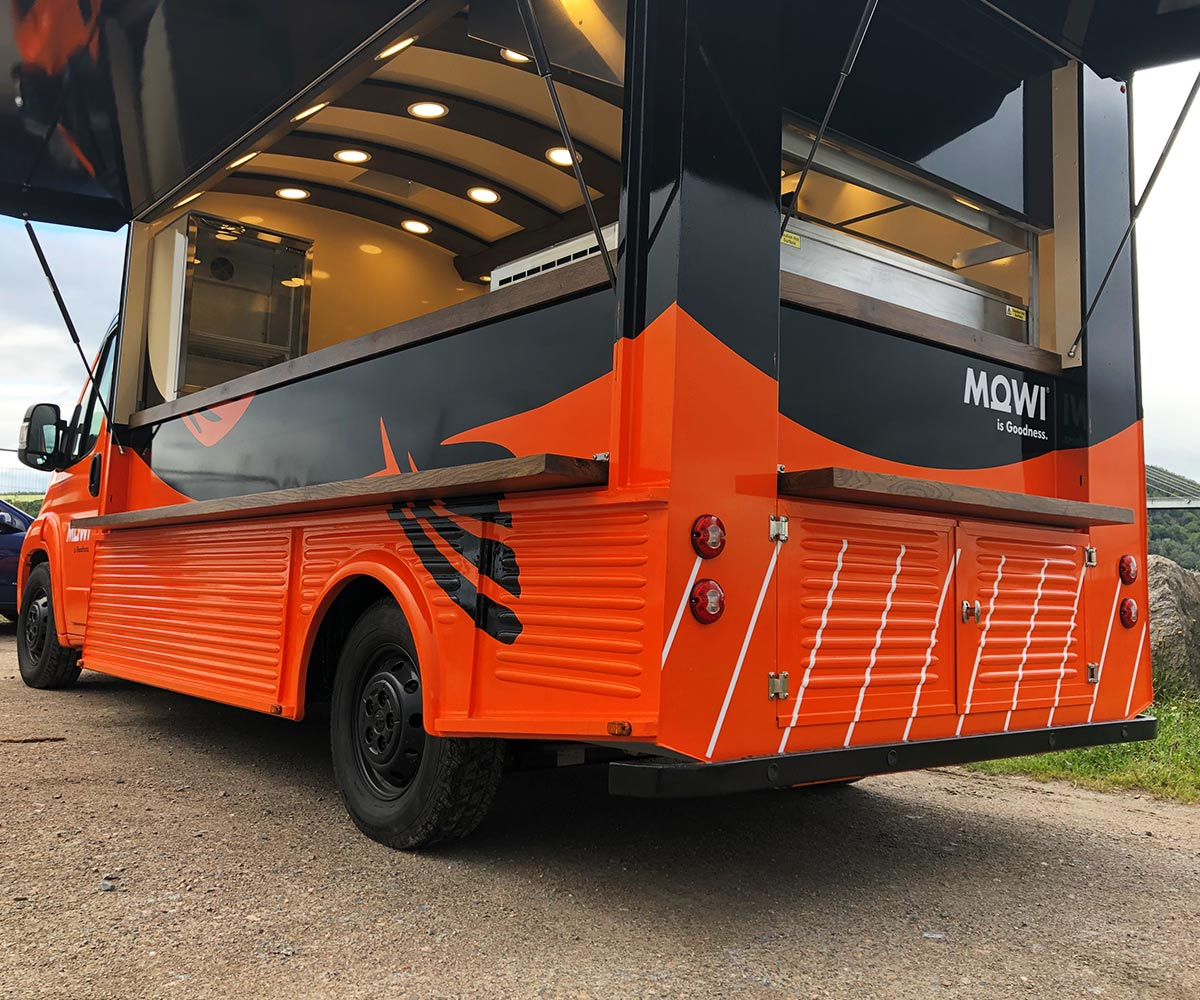 Finishing - HY Van conversion - Modern Catering unit for MOWI Scotland