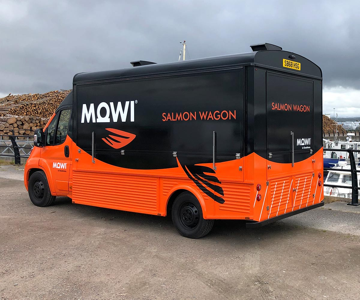 Modern Catering Truck for MOWI - The Salmon Wagon
